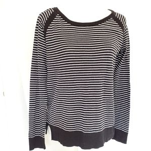 Jaclyn Smith striped pullover sweater oversized